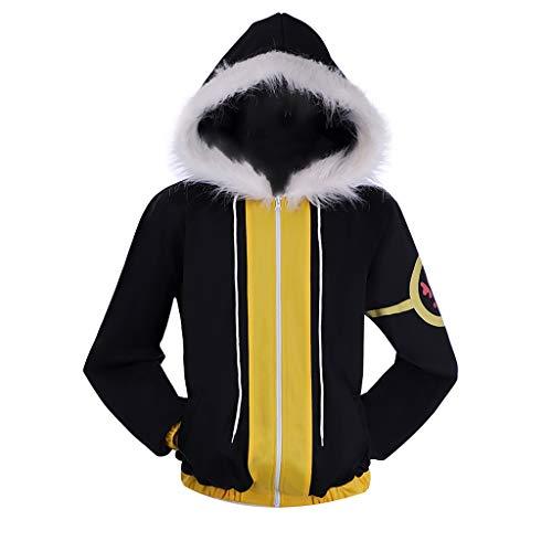 Frisk Fell Sans Cosplay Jacket Black Hoodie Coat Custom Made (Male-M)