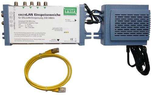 Satix CoaxLAN 55 4-Fach Einspeiseweiche (HomeplugAV, Ethernet via Coax)