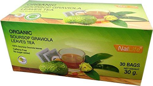 NalLife Organic Soursop Graviola Leaves Tea Pack of 30 Bags