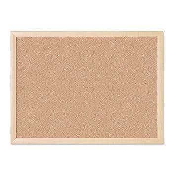 U Brands Cork Bulletin Board 23 x 17 Inches Light Birch Wood Frame  265U00-01