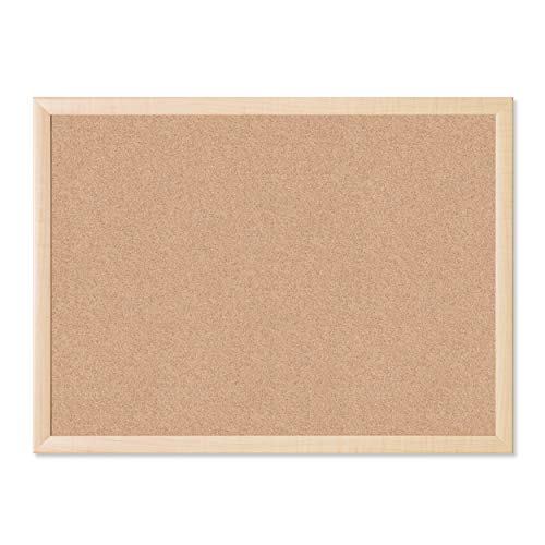 U Brands Cork Bulletin Board, 23 x 17 Inches, Light Birch Wood Frame (265U00-01)