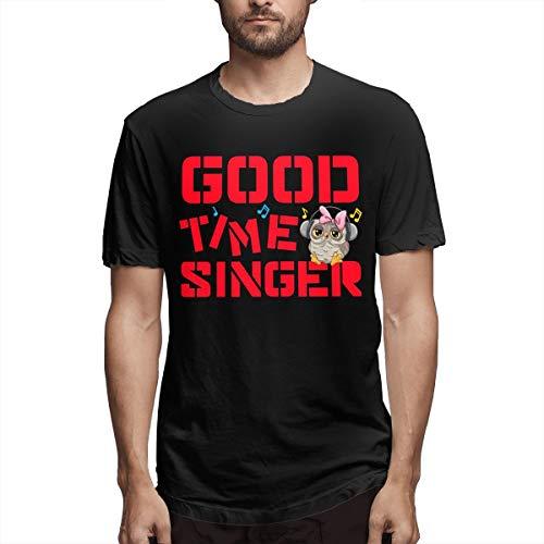 Vintage Good Time Singer Owl Camiseta de Manga Corta para Hombre Camisetas de Rama Carly RAE Jepsen Song Ropa para Hombre Negro M