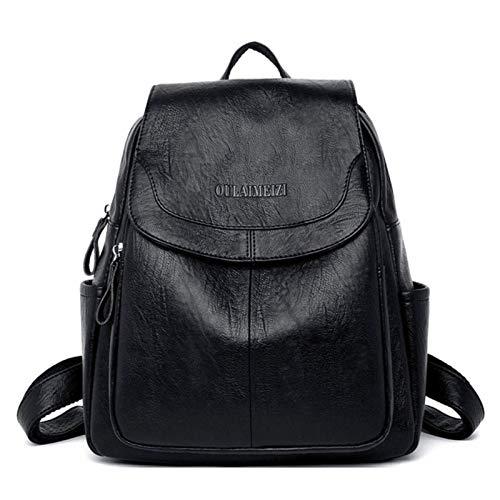 UKKD Mochila Mujer Bagpack Mujeres De Cuero Mochila De Cuero Bolsas De Hombro Para Mujeres Back Pack School Bags Para Adolescentes Linda Super Luz