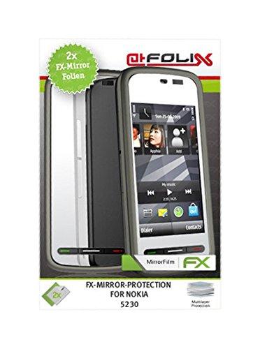 Displayschutz@FoliX atFoliX FX-Mirror–Protezione Schermo a Specchio per Nokia 5230, 2Pezzi qualità Elevata Made in Germany.
