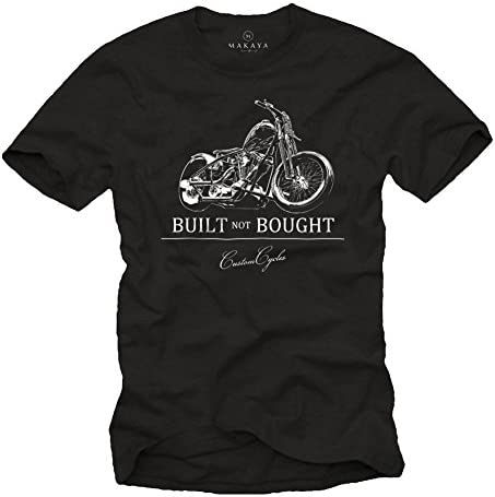 MAKAYA Built Not Bought - Camisetas Moteras Hombre