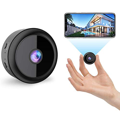 Cámaras espía Oculta,1080P HD Micro Camera Monitoring Portable Video Recorder, Infrared Night Vision Motion Detector, Small Wireless Security Camera Inside/Outside The Camera(Negro)