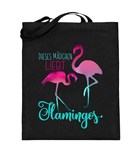 Chorchester Dieses Mädchen Liebt Flamingos - Jutebeutel (mit langen Henkeln)