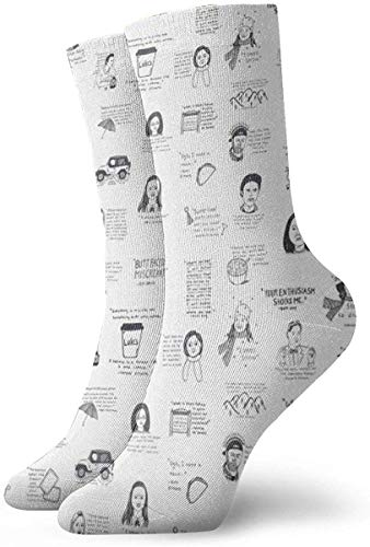 ORANGEW Gilmore Girls Quotes Casual Crew Socks Funny Novelty Ankle Socks Winter Socks for Men and Women - One Size Fits Most