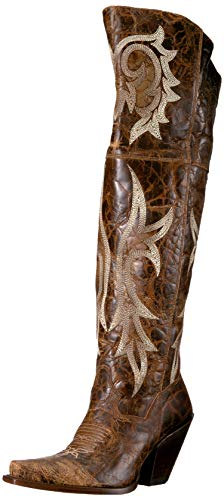 Dan Post Boots Women's JILTED Western Boot, Brown, 9 M US