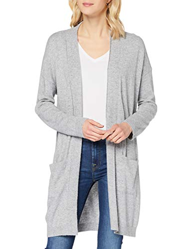 Sisley L/s Maglione Cardigan, Melange Light Grey 501, S Donna
