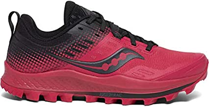 Saucony Women's Peregrine 10 ST Trail Running Shoe, Barberry/Black, 8