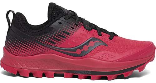 Saucony Peregrine 10 ST Barberry/Black, Zapatillas de Atletismo Mujer, 37.5 EU