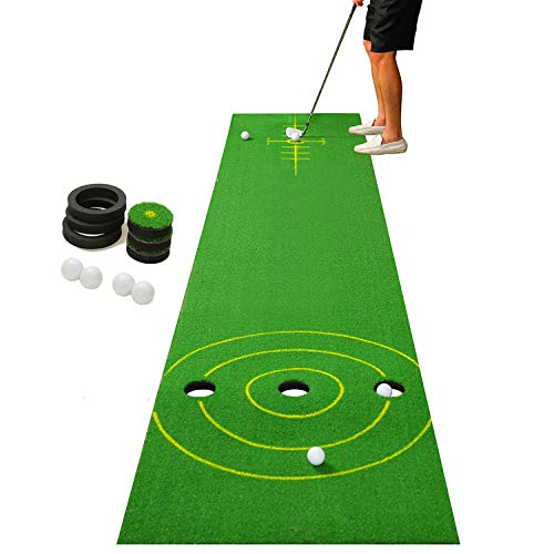 SHOWTIMEZ Putting Mat Indoor Golf Practice Set