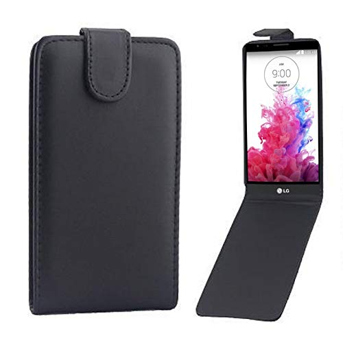 YIJINYA ESHOP Funda de Cuero de teléfonos móviles para LG G3 / D855 Funda de Cuero con Broche magnético con Tapa Vertical (Color : Black)