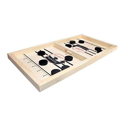 CHARMIYI Slingshot Winner Board Foosball Games Bouncing Chess Hockey Game Table Desktop Battle 2 in 1 Ice Hockey Game Table Hockey Party Game Toys for ParentChild 1378x905x137in