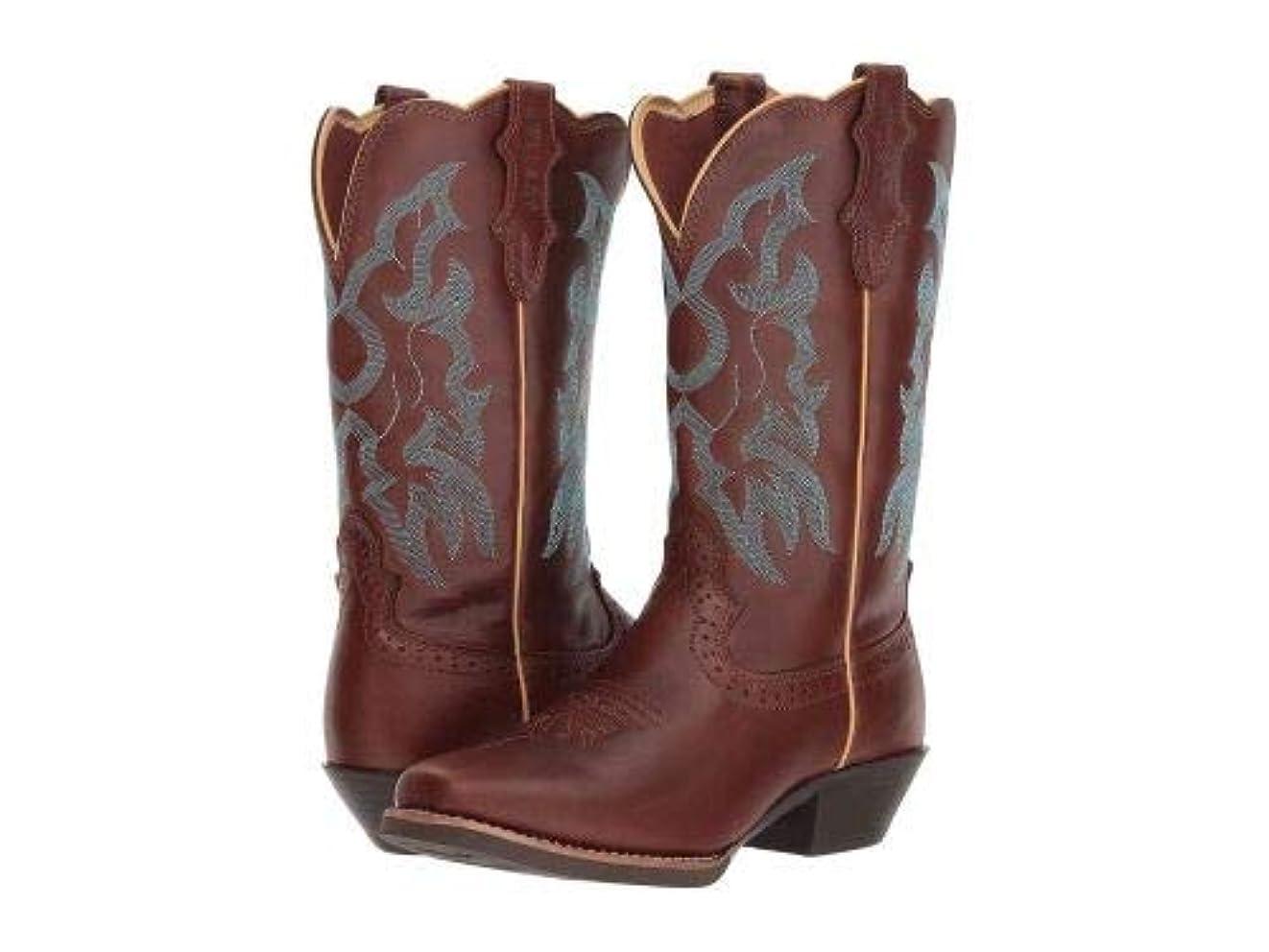 蓮パフマラウイJustin(ジャスティン) レディース 女性用 シューズ 靴 ブーツ ウエスタンブーツ Durant - Brown Buff [並行輸入品]
