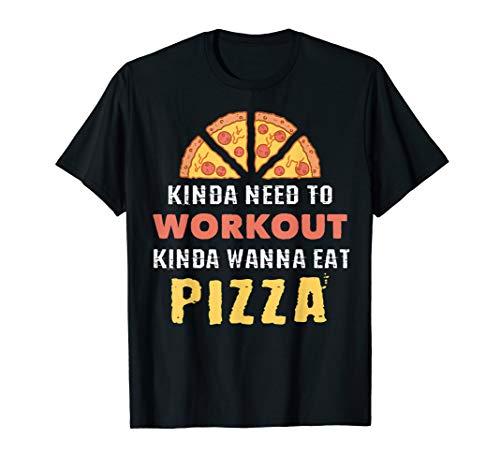 Workout vs. Pizza | Pizzaliebhaber Shirt | Männer Frauen