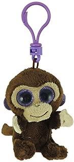 BEANIE BOOS TY COCONUT the Monkey (Glitter Eyes) (Plastic Key Clip - 3 inch)