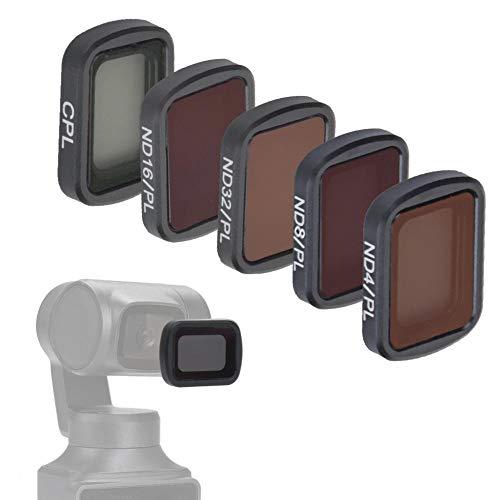 5-delige cameralens magnetische filterset, CPL ND4-PL ND8-PL ND16-PL ND32-PL cameralens Polariserende ND-PL filter Landschapsfotografie-accessoire, voor FIMI PALM Gimbal-camera voor OSMO POCKET