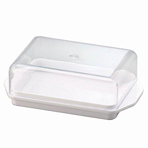 Wüllner + Kaiser Butterdose Kühlschrankbutterdose, Weiß, 13,8 x 8,8 x 4,9 cm