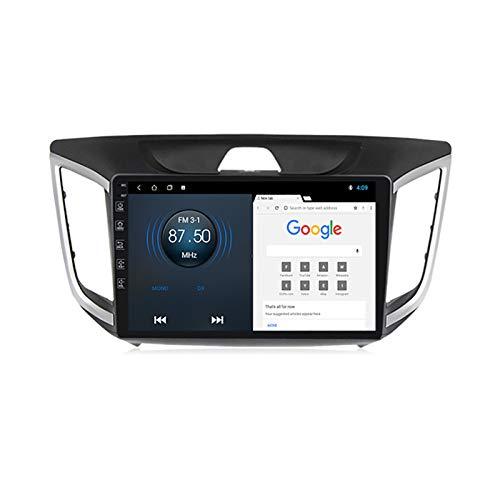 YLCCC Coche Estéreo Sat Nav Adecuado para Hyundai IX25 2015-2018 GPS Unidad de Cabeza estéreo Capacitiva Touch HD Carplay Radio Multimedia Multimedia Radio Incorporado Tracker,4Core WiFi:2+32G