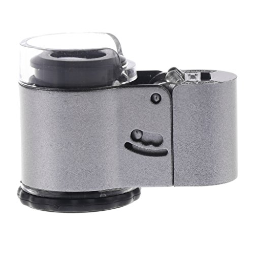 LoveinDIY Jeweller Loupe Magnifier Microscope Lens 40X Magnification with LED