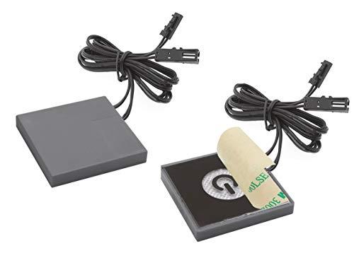 Interruptor táctil LED para espejo invisible e empotrable en el espejo máx. 50 W, cinta 3M