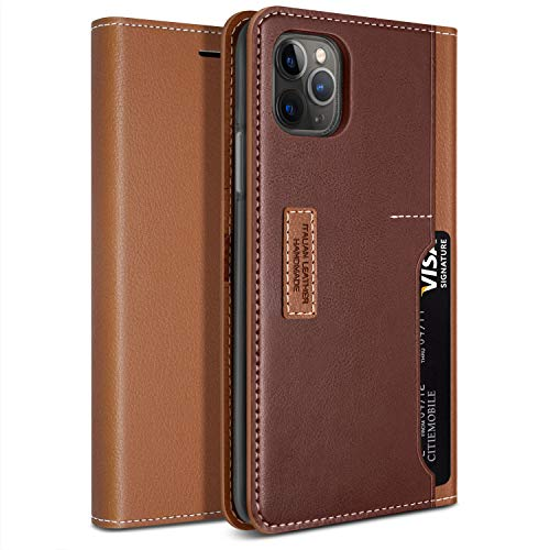 Obliq Case iPhone 11 Pro, OBLIQ [K3 Wallet] Flip Cover, Card Slots Leather Wallet Case with Drop Protection & Shock Absorbing Cushions for Apple iPhone 11 Pro [2019] (Brown/Burgundy)