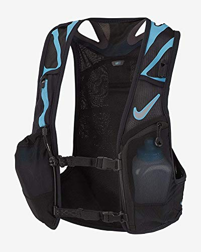Nike Trail Kiger Vest 3.0, Running, Hiking, Black/Blue (x-Large)