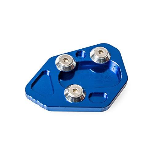 XFC-MTC, Seitenständer Seitenständer Pad Vergrößern Verlängerungsplatte for BMW F800R 2009-2014 R1200S 2006-2008 HP2 Sport 2008-2010 F 800R R 1200S (Farbe : Blue)