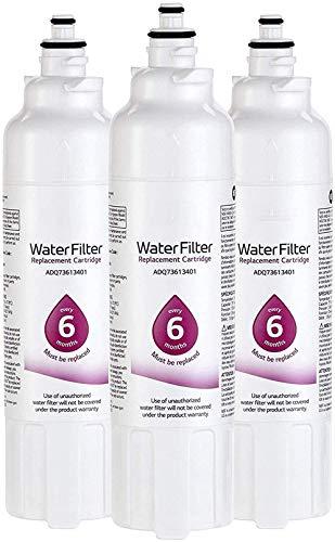 RSVT Reemplace Las Piezas De Repuesto del Filtro De Agua del Refrigerador LT800P (NSF42 Y NSF53), ADQ73613401, ADQ73613408 O ADQ75795104,3pack