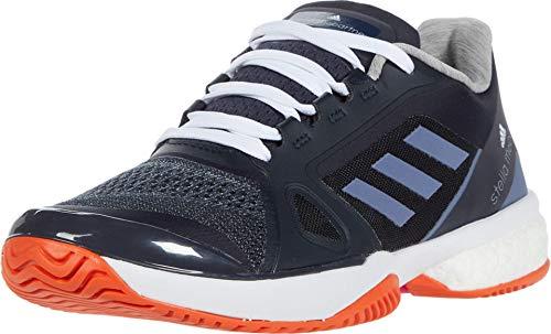 adidas Women's Asmc Barricade Boost 2017 Tennis Shoe, Blue/Super Purple/Radiant Orange, 5.5
