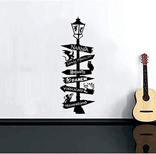 Diseño de arte pegatinas de pared papel tapiz decorativo dibujos animados señales de tráfico extrañas niños habitación de niños pegatinas de arte mural 48x134cm