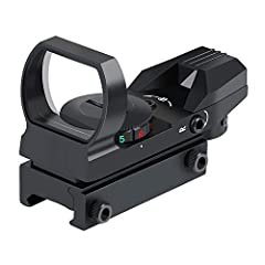 Reticle allows for 4 different styles. Dot, Circle/Dot, Crosshair/Dot, Crosshair/Circle/Dot combinations. All in one sight! A 33mm lens provides quick target acquisition. Wide field of view to maintain situational awareness. Very sturdy and secure ra...