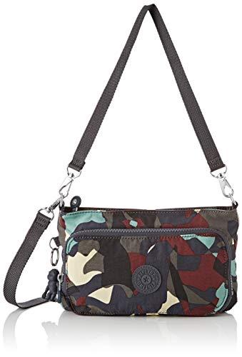 Kipling Myrte - Borse a tracolla Donna, Multicolore (Camo Large), 24x14.5x4.5 cm (B x H T)
