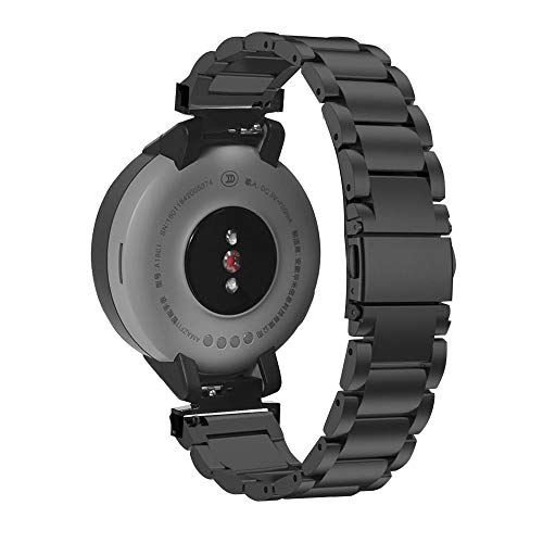 Haihuic Correa de Metal Verge Pulsera de o Inoxidable Macizo Reemplazo Correa de Reloj Compatible con Reloj Inteligente Verge