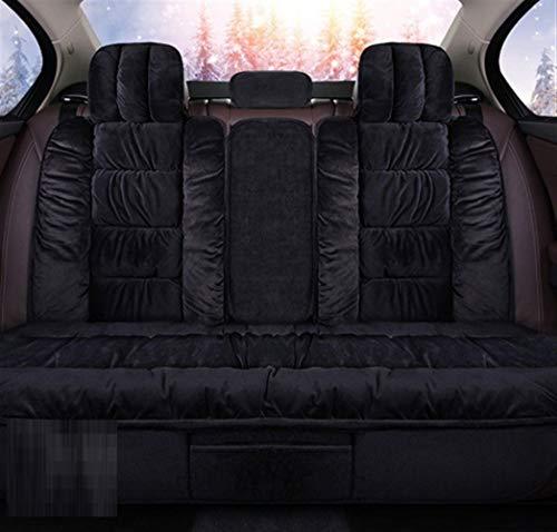 Bescherming voor autostoelen, modern, minimalistisch, modieus, wintermodus, warm, achter, kussens, voor autostoelen, autostoelen, autostoelcover, universele koffer, geen diapo Black rear