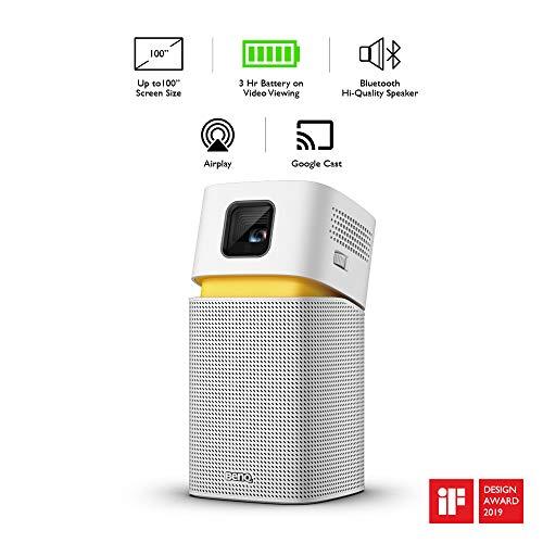 BenQ GV1 Videoproiettore Portatile per un Intrattenimento senza Fili con Altoparlante Bluetooth, Wi-Fi, HDMI e USB-C
