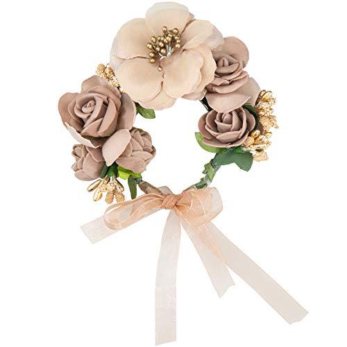dressforfun 302799 Donna Accesorio Bracciale, Marrone Multicolore, Matrimonio Sposa, Festa
