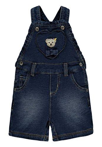 Steiff Collection Mädchen Latzhosen Latzshorts Jeans Gewirkt 6832302, Blau (Light Blue Denim 0014), 62
