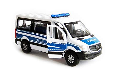 Welly Mercedes Benz Sprinter Polizei Modellauto Metall Modell Auto Spielzeugauto 92