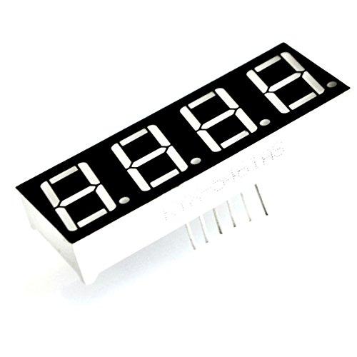 LED 4-Digital Display 7Segmente 0,9cm Mini Modul Gemeinsame Kathode für Uhr Timer zeigt von Optimus Electric