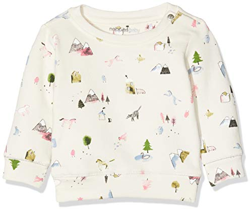 Noppies Baby-Mädchen G Sweat ls Canfield AOP Sweatshirt, Whisper White, 56