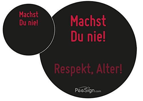 PEESIGN effect sticker Urinaal maak je nooit. Urinaal spel
