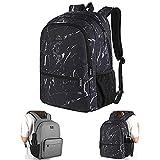 Backpack, Reversible Double Sided Kawaii Basic Backpack Water Resistant Classic Bookbag for Boys, College High School Student, Slim Casual Daypack for Work, Travel, Men, Women, Girl, Grey&Black
