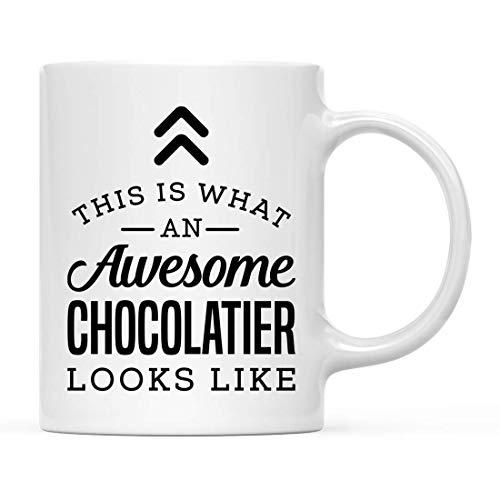 N\A Regalo de Taza de té de café de cerámica, así es como se ve un chocolatero Impresionante, 1 Paquete, Ideas de Regalo de cumpleaños para él, Ella, Incluye Caja de Regalo