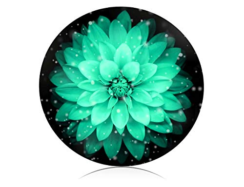 Gamming Mouse Pad Custom Design. Personalized Abstract Art Watercolor Flower Pattern Round Mouse Pads for Computer, PC and Laptops. Customized Mousepad for Office and Home.
