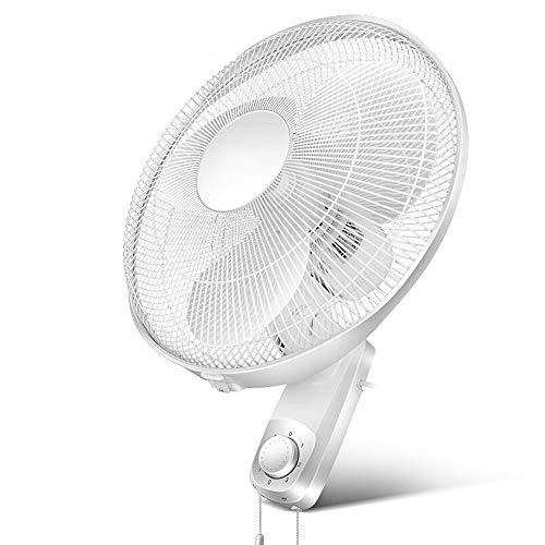 YUYI Climatizadores evaporativos 14' Ventilador de Montaje en Pared 90 ° oscilante 3 velocidades con un Interruptor de una Sola Cadena de tracción  para Interiores al Aire Libre Blanco  55W Ventil