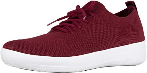 FitFlop Womens F-Sporty Uberknit Sneaker Shoes, Berry, US 9
