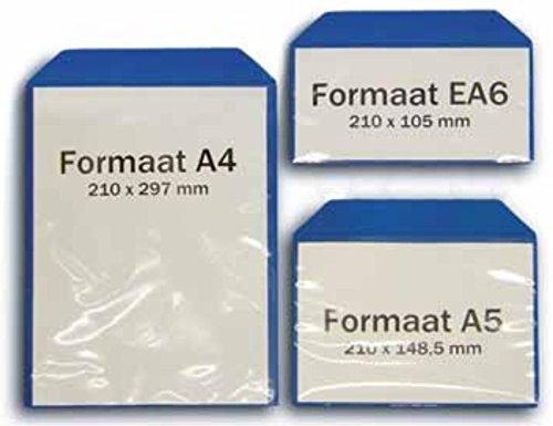 Magnettasche Sichttasche Einstecktasche Infotasche Dokumententasche, blau - mit Magnetstreifen - für Lager, Fertigung oder Transport, Format:A4 (210 x 297mm)